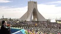 Iran, Tehran, Ayatollah speech at Azadi Monument