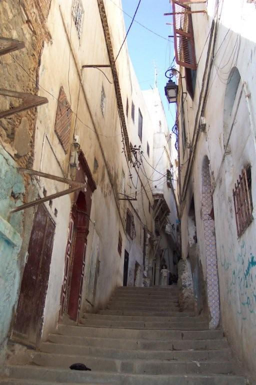 Algeria, Algiers, casbah steps