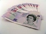 Travel money, cash, Pound Notes