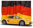 German flag and Porsche