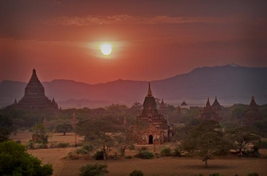 Sunset at Bagan, Mandalay, Myanmar