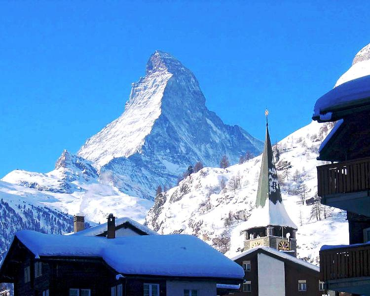Switzerland, view of Matterhorn from Zermatt