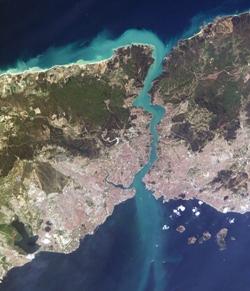 Turkey, Istanbul, satellite image